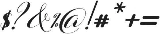 Barbara Slant Script Regular otf (400) Font OTHER CHARS