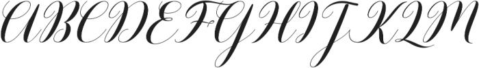 Barbara Slant Script Regular otf (400) Font UPPERCASE