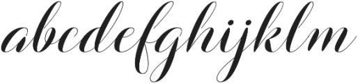 Barbara Slant Script Regular otf (400) Font LOWERCASE