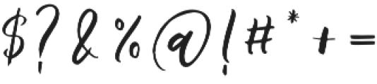 Barbeque Script Regular otf (400) Font OTHER CHARS