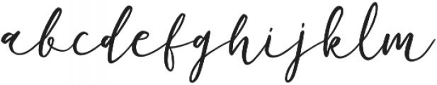 Barbeque Script Regular otf (400) Font LOWERCASE