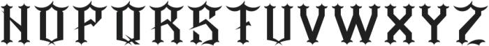 Barber Regular otf (400) Font UPPERCASE
