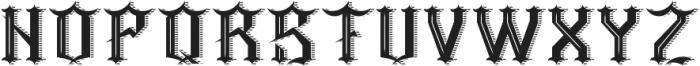 Barber ShadowAndTexture otf (400) Font LOWERCASE