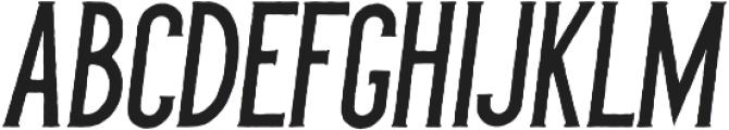 Barberino Rough Italic otf (400) Font UPPERCASE