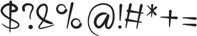 Bariaki Regular otf (400) Font OTHER CHARS
