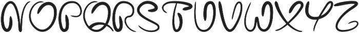 Bariaki Regular otf (400) Font UPPERCASE