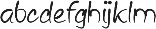 Bariaki Regular otf (400) Font LOWERCASE