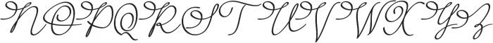 Barista Script otf (400) Font UPPERCASE