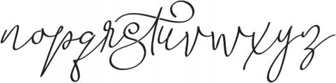 Barista Script otf (400) Font LOWERCASE