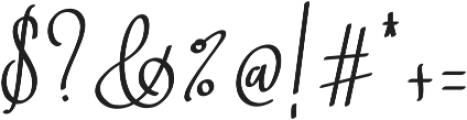 Barista Script ttf (400) Font OTHER CHARS