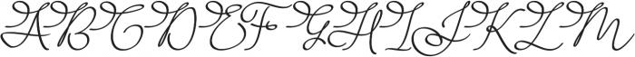 Barista Script ttf (400) Font UPPERCASE