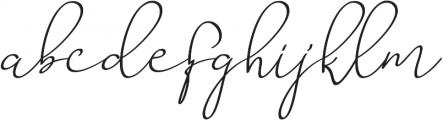 Barista Script ttf (400) Font LOWERCASE
