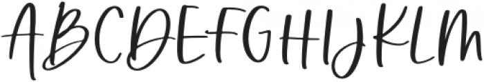 Barley Regular otf (400) Font UPPERCASE