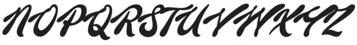Barley Script otf (400) Font UPPERCASE