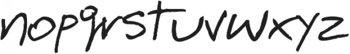 BarmeReczny ttf (400) Font LOWERCASE