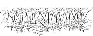 Barocca Monograms Regular otf (400) Font UPPERCASE