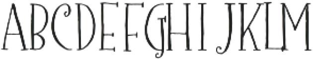 Barocca Monograms Regular otf (400) Font LOWERCASE