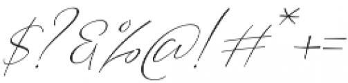 Barosaki SLant Italic otf (400) Font OTHER CHARS