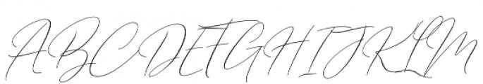 Barosaki SLant Italic otf (400) Font UPPERCASE