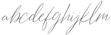 Barosaki SLant Italic otf (400) Font LOWERCASE