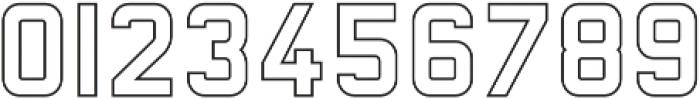 Baroschi Outline otf (400) Font OTHER CHARS