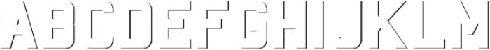 Baroschi SHADOW FX otf (400) Font LOWERCASE
