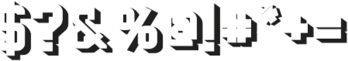 Baroschi  Shadow otf (400) Font OTHER CHARS