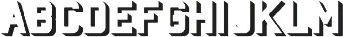 Baroschi  Shadow otf (400) Font UPPERCASE
