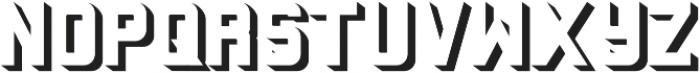 Baroschi  Shadow otf (400) Font LOWERCASE