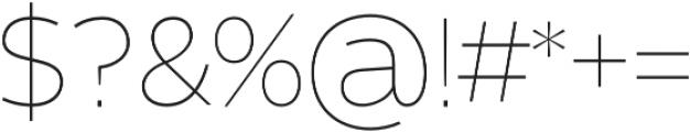 Barranco Thin otf (100) Font OTHER CHARS