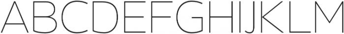 Barranco Thin otf (100) Font UPPERCASE