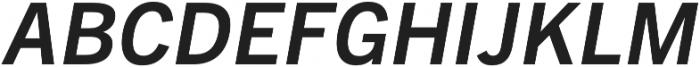 Barter Exchange SemiBold Italic otf (600) Font UPPERCASE