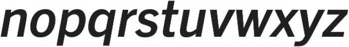 Barter Exchange SemiBold Italic otf (600) Font LOWERCASE