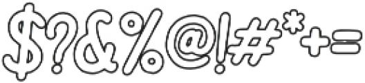 Bartond Typeface Outline otf (400) Font OTHER CHARS