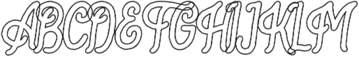 Bartond Typeface Outline otf (400) Font UPPERCASE