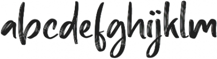 Barty Allen Regular otf (400) Font LOWERCASE