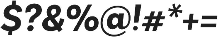 Basic Sans Alt Bold It otf (700) Font OTHER CHARS