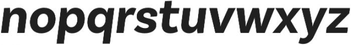 Basic Sans Alt Bold It otf (700) Font LOWERCASE