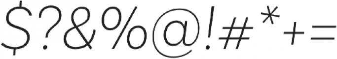 Basic Sans Alt ExtraLight It otf (200) Font OTHER CHARS