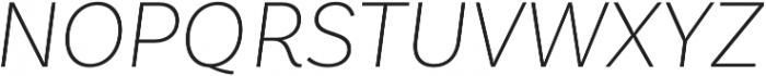 Basic Sans Alt ExtraLight It otf (200) Font UPPERCASE