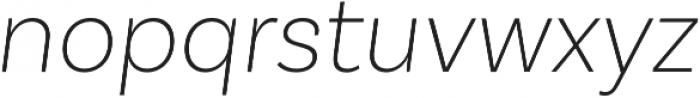Basic Sans Alt ExtraLight It otf (200) Font LOWERCASE