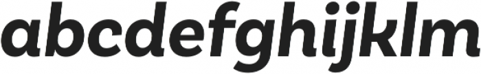 Basic Sans Bold It otf (700) Font LOWERCASE