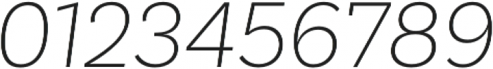 Basic Sans ExtraLight It otf (200) Font OTHER CHARS