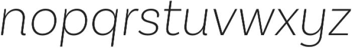 Basic Sans ExtraLight It otf (200) Font LOWERCASE