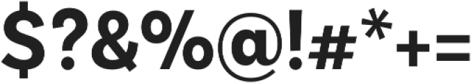 BasicSans Alt Narrow Bold otf (700) Font OTHER CHARS