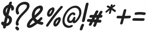 Battallion Hand Italic otf (400) Font OTHER CHARS