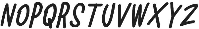 Battallion Hand Italic otf (400) Font UPPERCASE