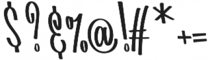 Batticuore Backslanted otf (400) Font OTHER CHARS