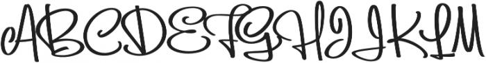 Batticuore Backslanted otf (400) Font UPPERCASE