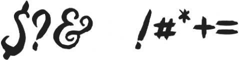 Baurbon otf (400) Font OTHER CHARS